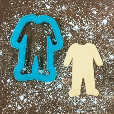 Baby Pajamas/Sleeper Cookie Cutter with Cookie