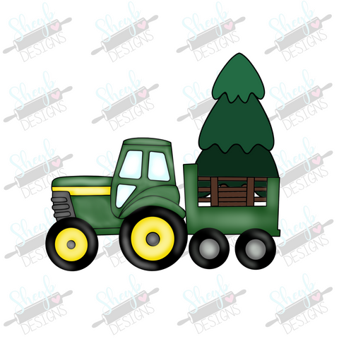 Christmas Tree Tractor Cookie Cutter