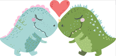 dino kisses cookie cutter