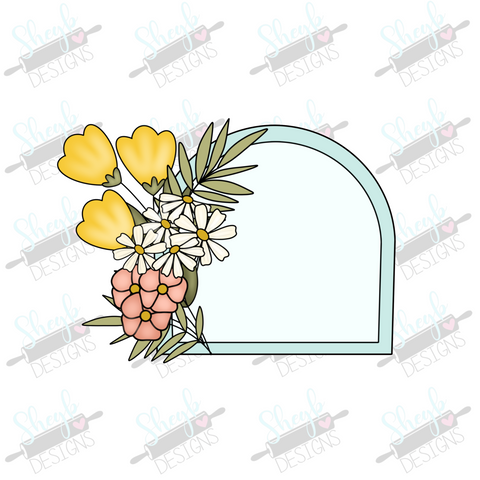 Floral Half Oval Cookie Cutter