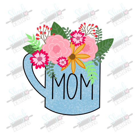 Floral Mom Mug Cookie Cutter
