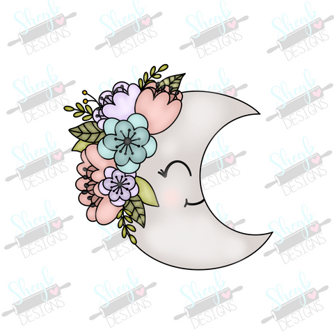 Floral Moon Cookie Cutter