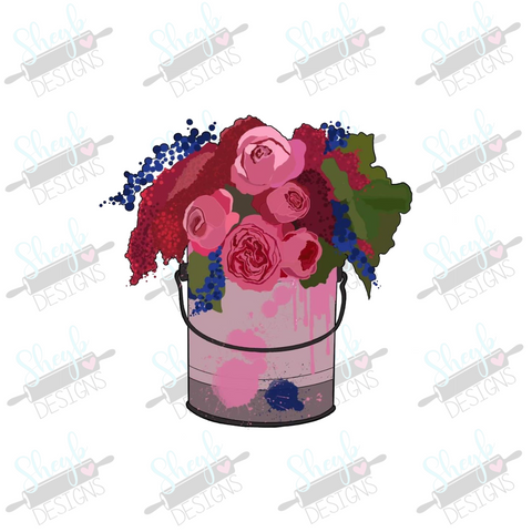 Floral Paint Can Cookie Cutter