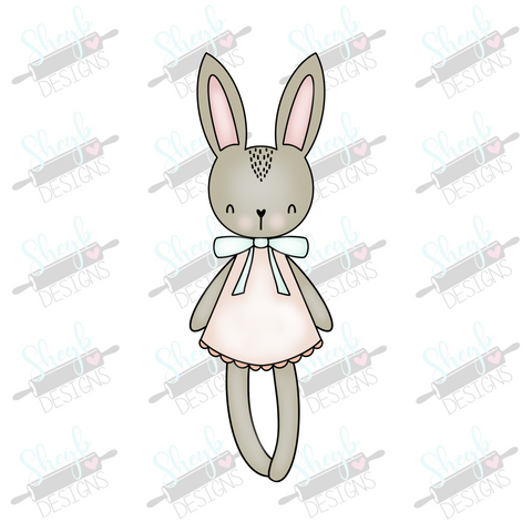 Girly Bunny Cookie Cutter