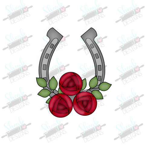 Horseshoe and Roses Cookie Cutter