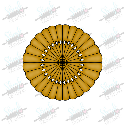 Rosette Fan 3 Cookie Cutter