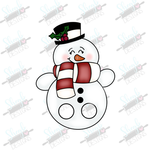 Snowman Finger Puppet Cookie Cutter