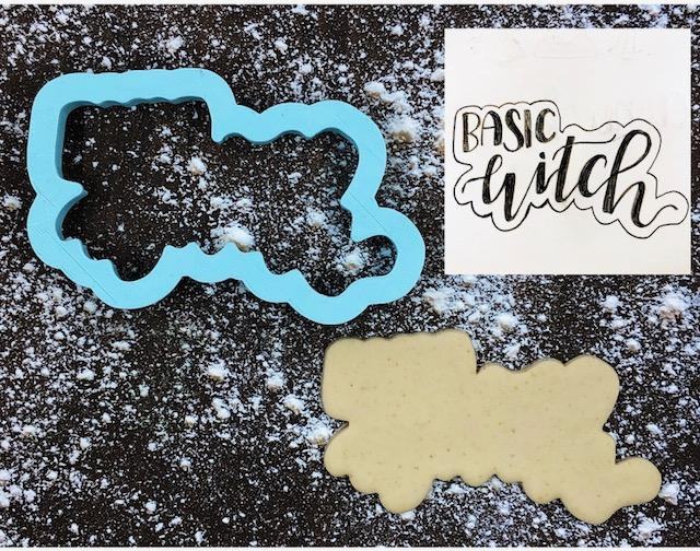 Basic Witch Cookie Cutter with Cookie