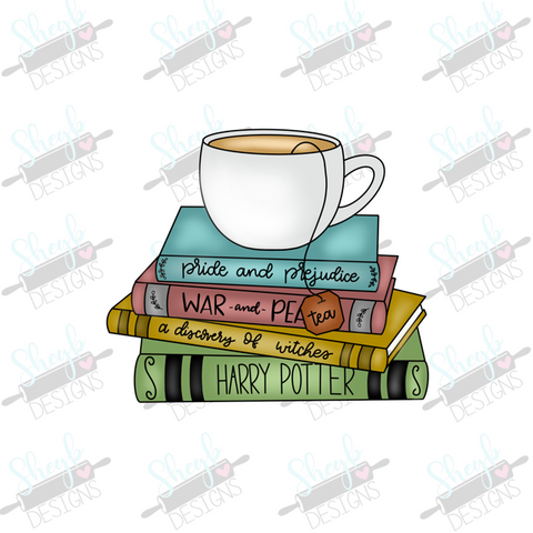 Books and Tea Cookie Cutter