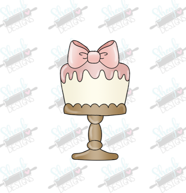 Bow Cake Stand Cookie Cutter Sheyb