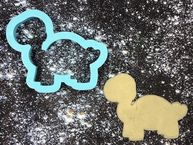 Bruce the Tortoise Cookie Cutter with Cookie