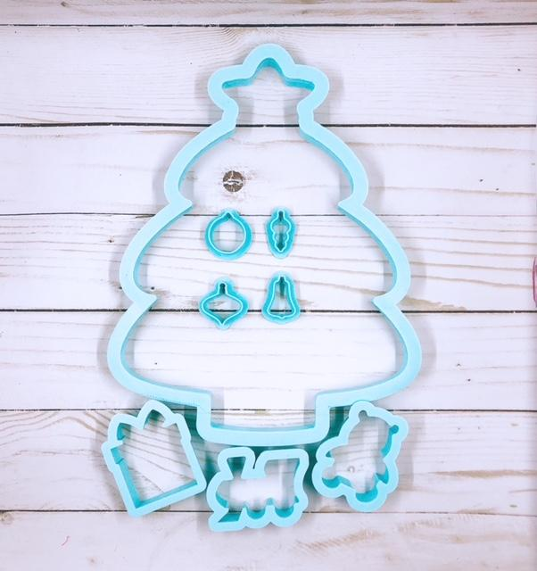 Christmas Night Cookie Cutter Platter SET