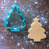 Christmas Tree w/ Topper Cookie Cutter with Cookie
