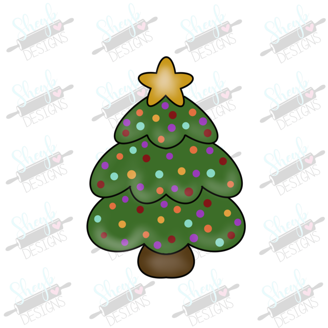 Christmas Tree with Topper Cookie Cutter