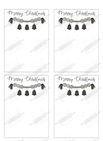 Christmas Garland Cookie Card