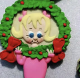 Cindy Lou Cookie Cutter decorated