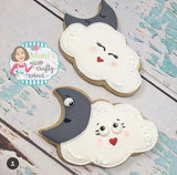 Moon & Cloud Cookie Cutter Decorated