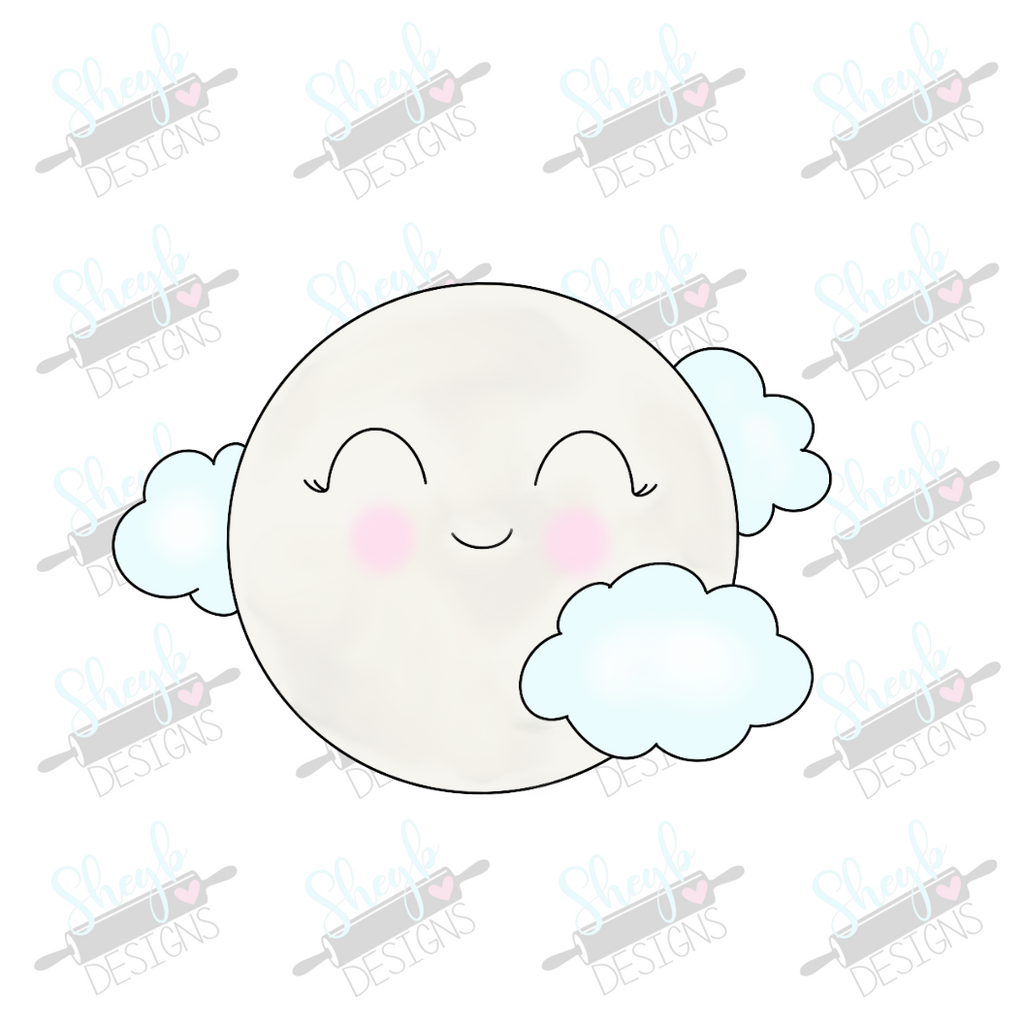 Cloudy Moon Cookie Cutter