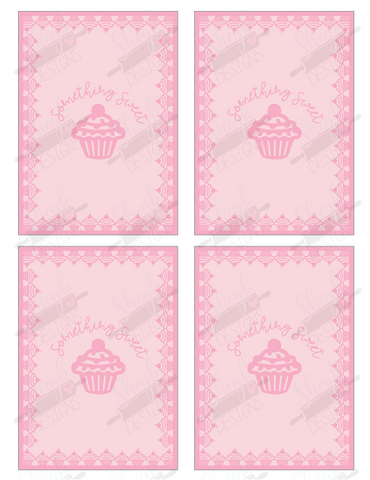 Cupcake Cookie Card