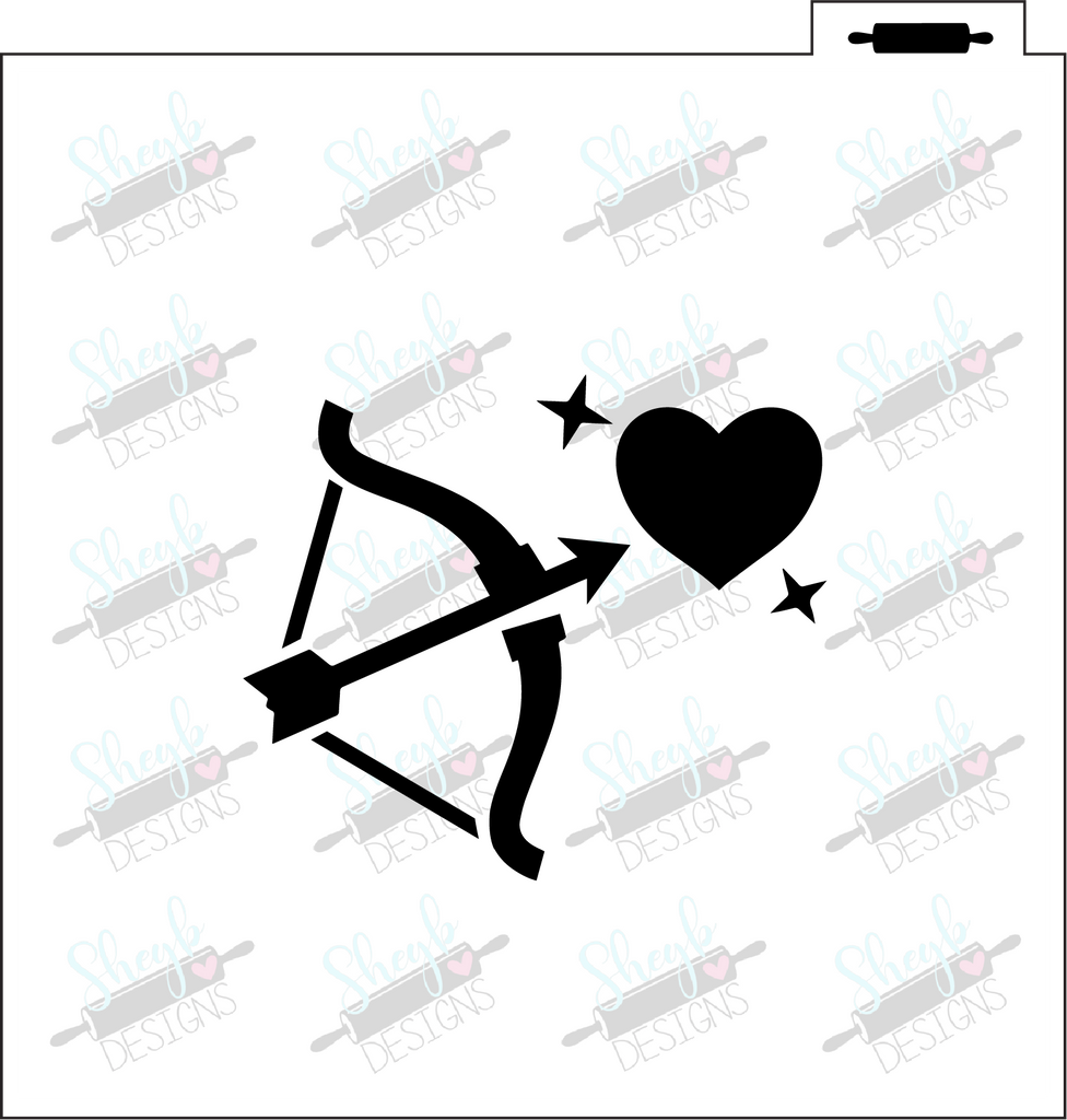 Cupid's Arrow Stencil