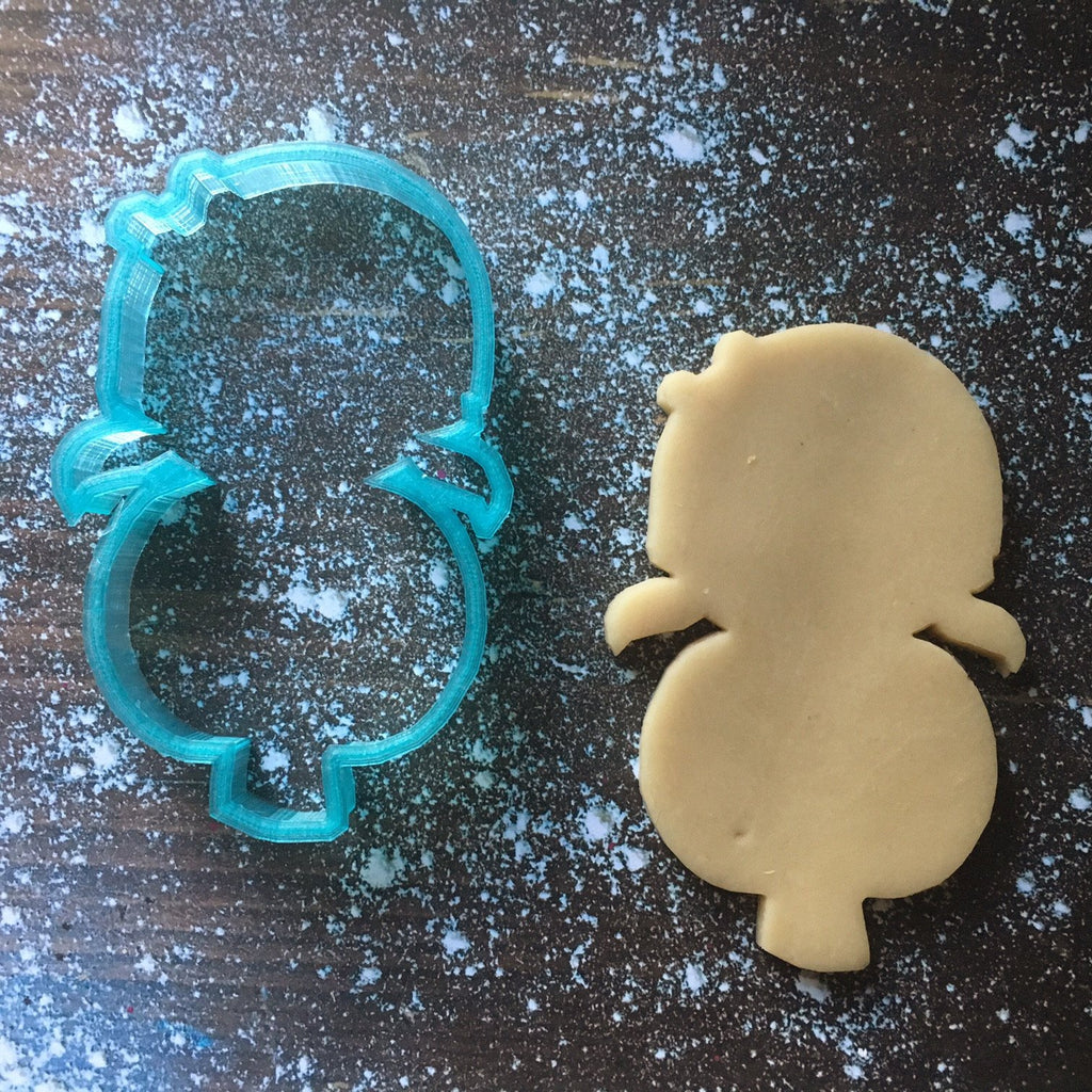 Cute Girl Pumpkin Cookie Cutter with Cookie