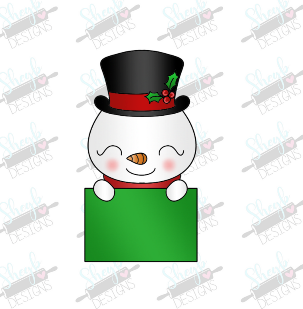 Cute Snowman Frame Cookie Cutter