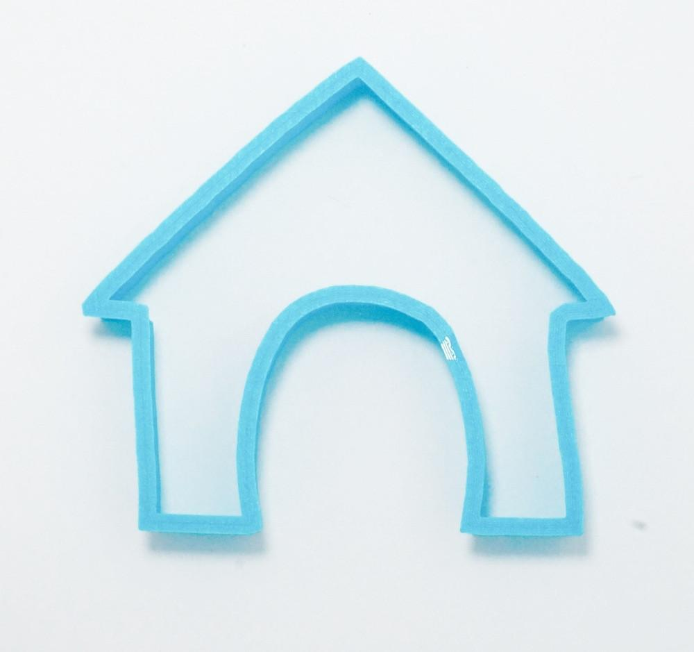 dog house cookie cutter top