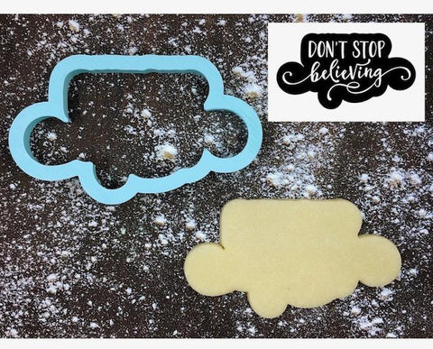 Don't Stop Believing Cookie Cutter with Cookie