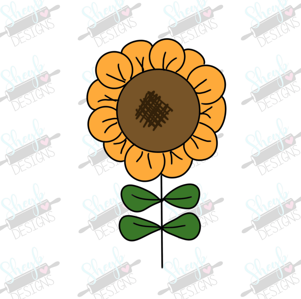 doodle sunflower cookie cutter