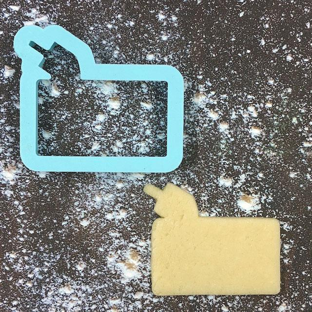 Dreidel Frame Cookie Cutter with Cookie