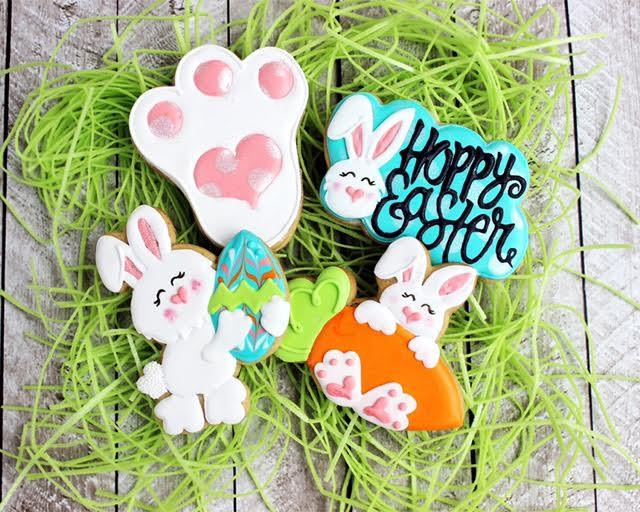 Easter Cookie Cutter Set Decorated