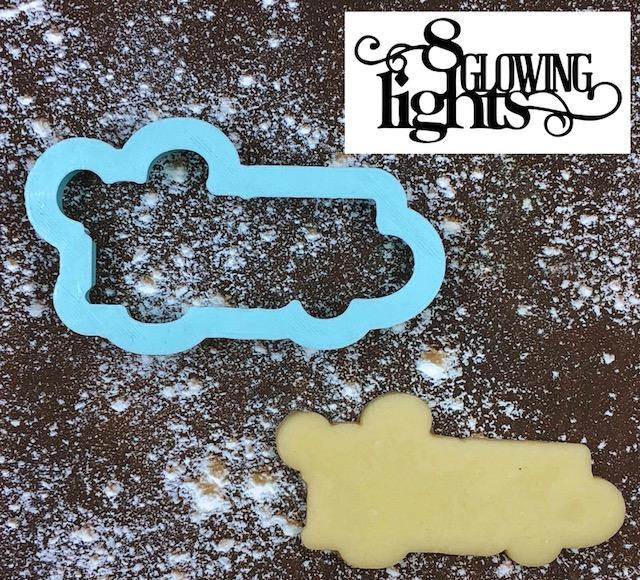 Eight Glowing Lights Cookie Cutter with Cookie