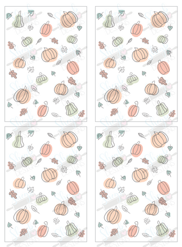 Fall Cookie Card
