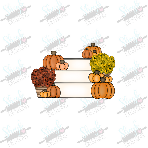 Fall Porch Stairs Cookie Cutter