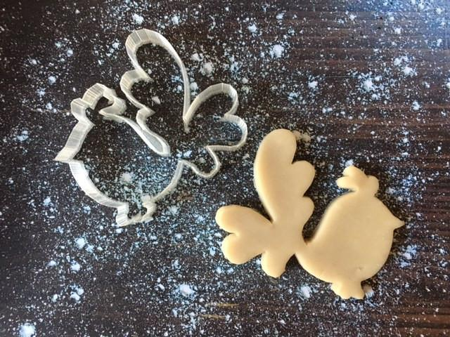 Fancy Bird Cookie Cutter with Cookie