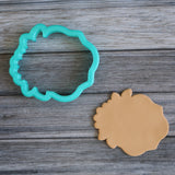 Floral Frame Cookie Cutter with Cookie