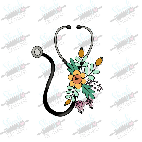 Floral Stethoscope Cookie Cutter