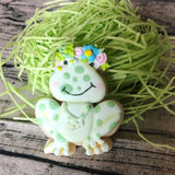Frankie the Frog Cookie Cutter Decorated