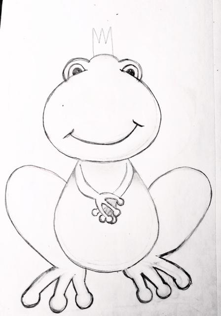 Frog Prince Cookie Cutter Sketch