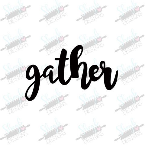 Gather Word Cookie Cutter