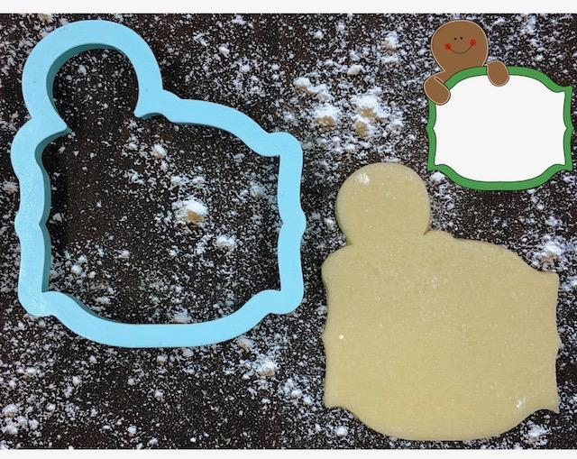 Gingerbread Man Frame Cookie Cutter with Cookie
