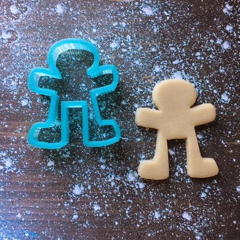 Gingerbread Man Mug Hugger Cookie Cutter with Cookie