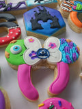 Girl Mouse Ears Headband Cookie Cutter Decorated