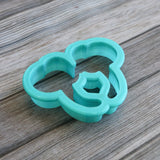 Girl Mouse Ears Headband Cookie Cutter Side