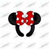 Girl Mouse Ears Headband Cookie Cutter