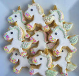 Glitter the Unicorn Cookie Cutter Decorated