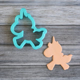 Glitter the Unicorn Cookie Cutter with Cookie