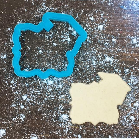 Grad Frame Cookie Cutter with Cookie