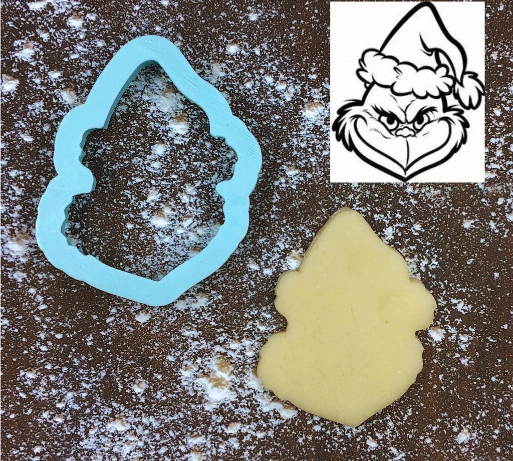 Grinch Cookie Cutter with Cookie
