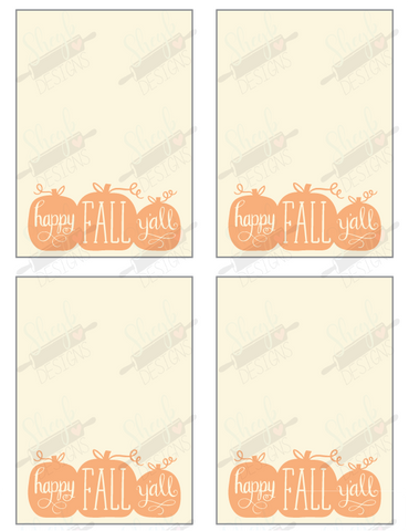 Happy Fall Y'all Cookie Card